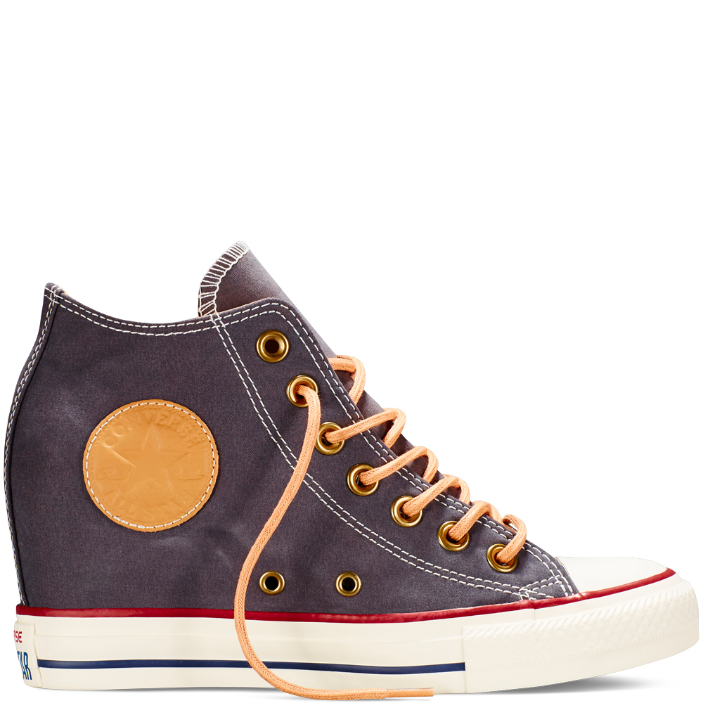 Converse Chuck Taylor All Star Lux Peached Vászon wedge Női Cipő Fekete (551617C)