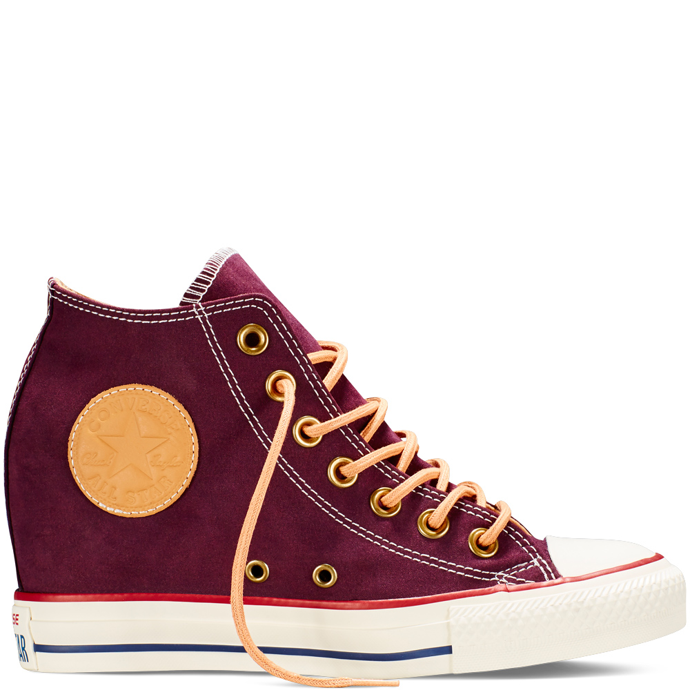 Converse Chuck Taylor All Star Lux Peached Vászon wedge Női Cipő Fekete (551618C)